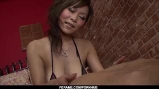 Ren Mizumori wants cum on her huge tits after such blowjob  tits cock-sucking big-tits tit-fuck ball-licking blowjob cumshot big-boobs pov busty cum-on-tits hardcore milf ferame mini bikini hot milf