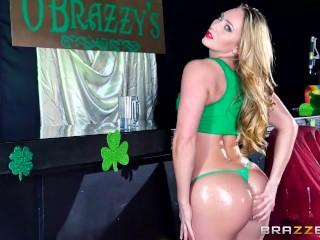 AJ Applegate's St Patrick's day day anal - Brazzers