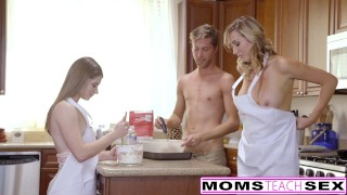 MomsTeachSex - Horny Mom Tricks Teen Into Hot Threeway babes alice-march milf eighteen blonde blowjob teen ffm shaved momsteachsex cumshot brett-rossi tattoo big-tits smalltits small-tits step-mom daughter doggystyle petite