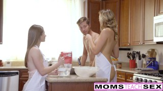 MomsTeachSex - Horny Mom Tricks Teen Into Hot Threeway  teen big-tits eighteen blonde blowjob ffm momsteachsex cumshot tattoo milf smalltits daughter petite babes shaved small-tits step-mom doggystyle alice march brett rossi