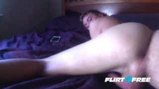 Boy Next Door Dildos His Tight Ass & Shoots a Big Load