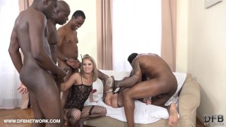 Double Anal Double Penetration Group fuck 4 black men fuck 2 white girls  blacked anal hard rough-sex double-anal black double-blowjob cumshot ass-fuck hardcore fisting interracial double-penetration slut anal group facial screaming orgasm