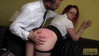 While sub squirts fingerfucked british milf roughsex british