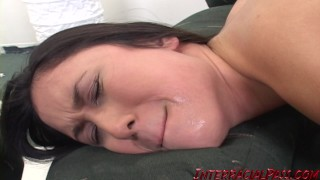 Sakura's asian pussy gets stretched out while her GF watches! German tits