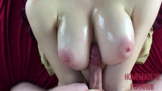 Preview 1 of Oiled 18 Year Old Gets Titty Fucked And Jizzed On