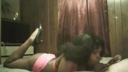 black girl blow job with cum shot