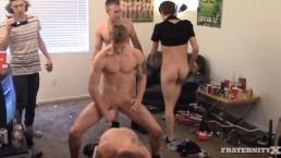 Bareback orgy gang bang