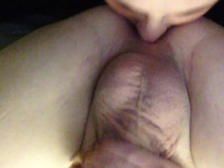 Wife gives husband rim job before pounding his tight ass with a 10inch toy