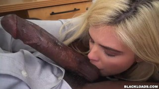 Rikki Learns To Respect Ebony Dick on Black Loads (blk15013)