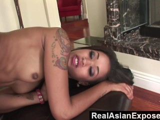 RealAsianExposed – Tiny Asian slut opens her butt to massive black cock