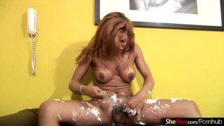 Her tbabe shecock and redhead massive enjoys shaving ass shaving shemax