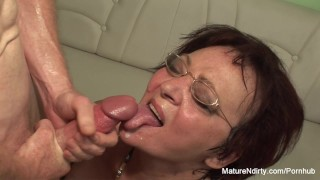 Stockings for insatiable fucking mature keeps her on mature brunette