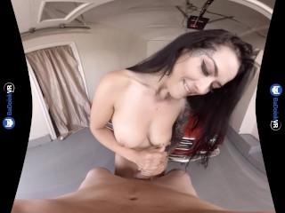 VR Porn Katrina Jade Fucks POV in Mustang on BaDoinkVR.com 180 3D
