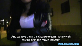 Public Agent Black hair czech babe fucked in public  sex for money sex for cash outdoors outside amateur cumshot public pov real camcorder reality publicagent sex with stranger dark