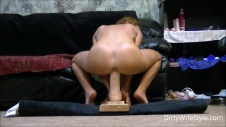 Pussy rides happy her to monster babe and horny dildo a make fucks brutal toys hot