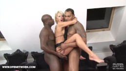 Interracial Threesome Mature Blonde Double Penetration Hardcore Fucked