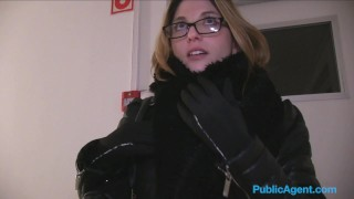 Public Agent French tourist fucked in public stairwell publicagent amateur real camcorder sex-for-cash cumshot glasses trimmed-pussy sex-with-stranger big-tits outdoors public fake-tits outside point-of-view sex-for-money
