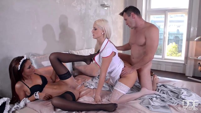 Dreamteam Threesome With Ultra Sexy Nurse Blanche Bradbury And Alexis Brill - Pornhubcom-8526
