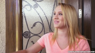 Preview 1 of Petite Teen Bailey Brooke's Home Alone with Her Daddy's Friend