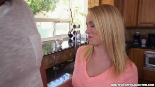 Preview 3 of Petite Teen Bailey Brooke's Home Alone with Her Daddy's Friend