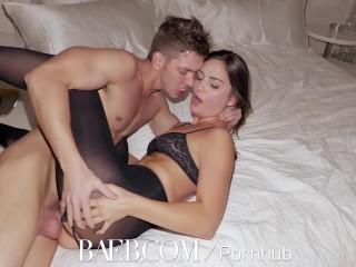 BAEB – Brunette babe Pepper XO gets her pink pussy stuffed