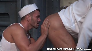 RagingStallion Hot Sailor Disciplined by Daddy Officer Bear bearboxxx