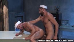 RagingStallion Bruno Bernal Tops his Hot Sailor Friend