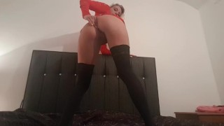 fuckdoll strips and fucks asre with dildo