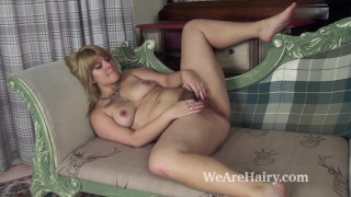 Jodie Dallas explores hairy pussy looking sexy Brunette adult