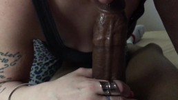 Sloppy top slurping BBC till she gets it all!!!