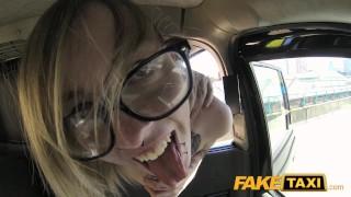 Fake Taxi Teen gets taxi facial in car park