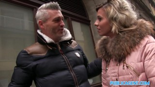 Public Agent Cheating wife with short blonde hair fucks for cash porno
