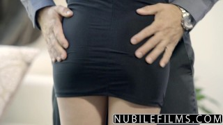 NubileFilms - Big Cock Fucks Kimmy Granger Raw  natural riding teen babe cock-sucking nubilefilms blowjob cumshot skinny hardcore reverse-cowgirl petite small-tits big-dick teenager facial