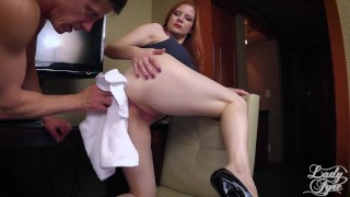 Horny Boss Makes Employee Eat ASS then Fucks him. FULL VIDEO Lady Fyre hardcore redhead pussy-eating boss domination ass-worship milf heels kink mom office olivia-fyre ass-eating mother lady-fyre laz-fyre butt