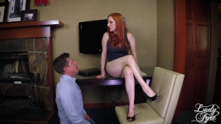 Horny Boss Makes Employee Eat ASS then Fucks him. FULL VIDEO Lady Fyre redhead pussy-eating boss domination ass-worship milf heels kink mom office olivia-fyre ass-eating mother lady-fyre laz-fyre butt