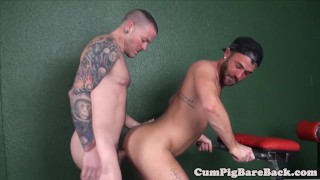After barebacking ass jock tattooed tight bj inked gay