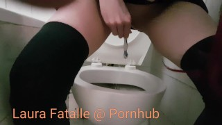 Extreme squirt piss on daddys toothbrush