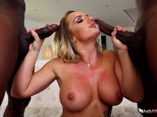 Busty Street Cali Carter Caught Cheating, Interracial Threesome Ensues, Big Dick Interracial Pornsta