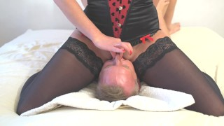 Preview 3 of Amazing squirt on mouth. Face sitting and awesone pussy riding.