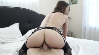 Riley Reid getting fucked by big white cock Latina phone