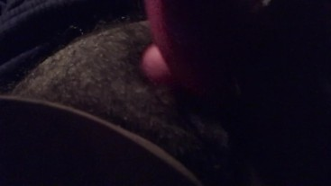 Ftm tranny jerk off huge clit finger hairy pussy in car