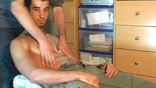 Delivery his guy innocent serviced a by guy big marc cock hunk cock