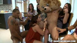 CFNM Birthday Party with Male Strippers on Dancing Bear (db9747)