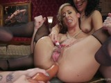 These two lesbos are fucked hard until they gape