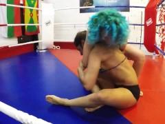 Sahara Knite Vs Amethyst Hammerfist Wrestling Catfight Grappling Pornstar