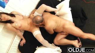 Fucks office in checkup young and nurse and sex doctor old turns into old and
