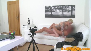 Fake Agent Massive tits short hair babe loves agent cock  office sex homemade oral-sex big-tits audition amateur blonde cumshot pov casting couch real reality fakeagent interview mila milan