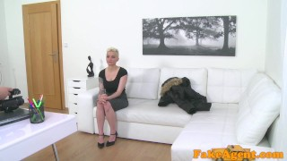 Fake Agent Massive tits short hair babe loves agent cock audition fakeagent homemade couch amateur blonde real oral-sex cumshot mila-milan office-sex big-tits pov reality casting interview