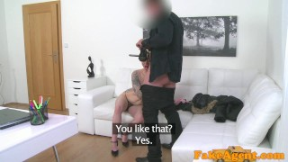 Fake Agent Massive tits short hair babe loves agent cock  homemade oral-sex big-tits audition amateur blonde cumshot pov casting couch real reality fakeagent interview mila milan office sex