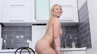Kitchen strips naked in masturbates m a and luiza tits puffy